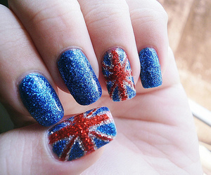 british flag, unhas, and nails polish image