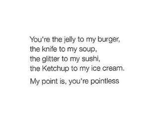 funny, quote, and food image