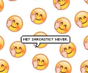 background, emoji, and sarcastic image