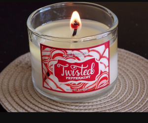 candle, candles, and twisted peppermint image