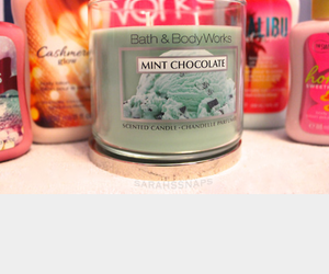 candle, candles, and bath and body works image