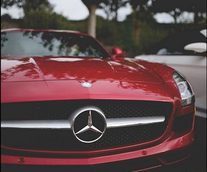 mercedes, car, and red image