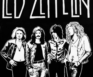 band, black and white, and led zeppelin image