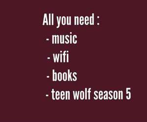 teen wolf, book, and music image