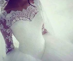 bride, fashion, and wedding dress image