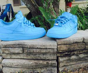 air force, blue, and nike image