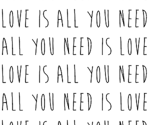 all you need is love, beatles, and music image