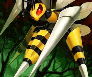 pokemon, beedrill, and mega evolution image