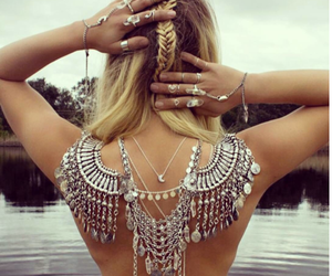 accessory, beach, and necklace image