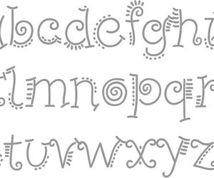 doodles, fonts, and handwriting image