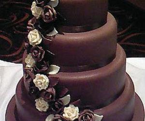chocolate, bride, and cake image