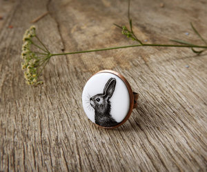 black and white, cute animal, and jewelry image