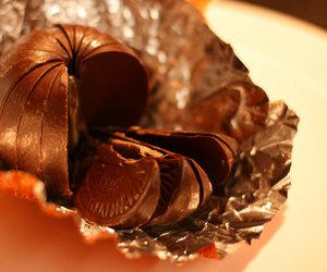 delicious, orange, and chocolate fruit image