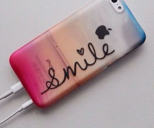 smile, iphone, and apple image