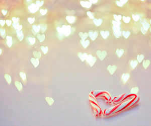 heart, candy, and christmas image