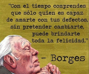 borges, frases español, and defectos image