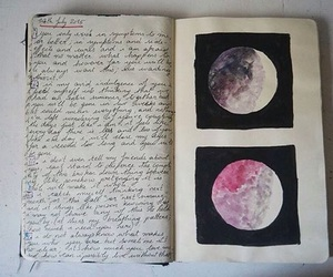 grunge, moon, and book image
