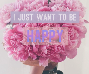flowers, happy, and i want image