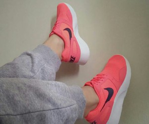 coral, fashion, and nike image