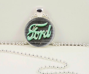vintage ford, ford necklace, and ford pendant image