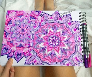 art, creative, and pink image
