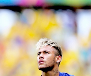 blond hair, neymar, and brazil image