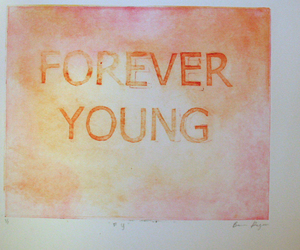 Forever Young, fuck you, and polaroid image
