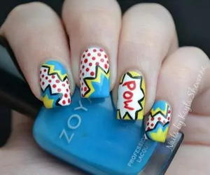 nails, pow, and nail art image