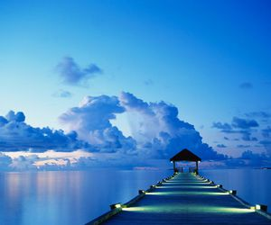 blue, clouds, and sea image
