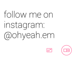 follow, instagram, and love image