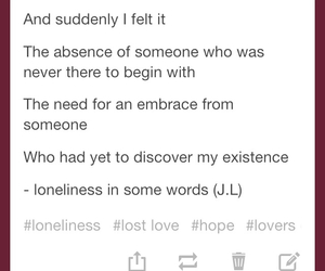 lonely, quotes, and love image