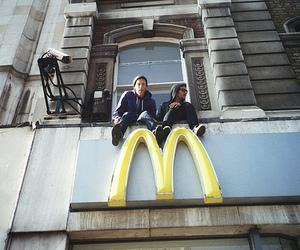 boy, McDonalds, and guy image