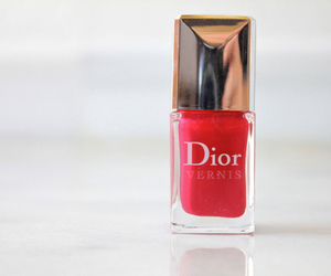 dior, red, and nails image