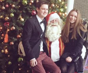 christmas, santa claus, and sister image