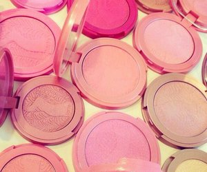 blush, makeup, and pink image