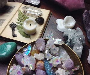 crystal, book, and fairy image