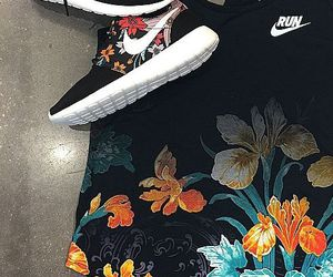 flower, nike, and sport image