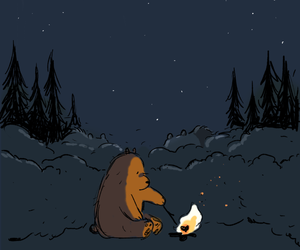 grizzly, grizz, and we bare bears image