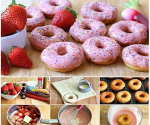 donuts, diy, and food image