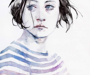 art, painting, and agnes cecile image