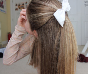 bow, hair, and tumblr image