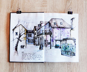 house and sketch image
