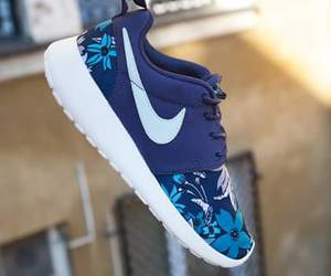 blue, nike, and pretty image