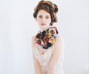 wedding dress, wedding, and white dress image
