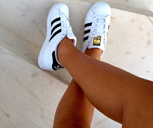adidas, gold, and tanned image