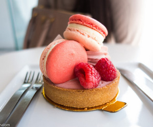 food, dessert, and macaroons image