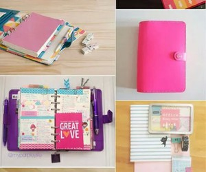 school, diy, and pink image