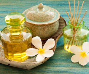 cosmetics and flower image