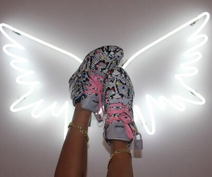 angel, heels, and shoes image