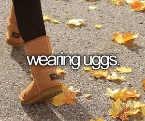 uggs, fall, and autumn image